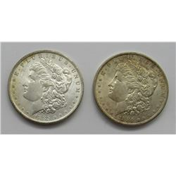 2-BU MORGAN DOLLARS:  1884-O & 1885-O