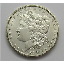 1890 MORGAN DOLLAR BU WHITE