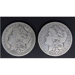 1894-O & 1903-S MORGAN DOLLARS VG's