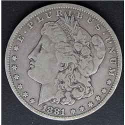 1881-CC MORGAN DOLLAR VG/FINE
