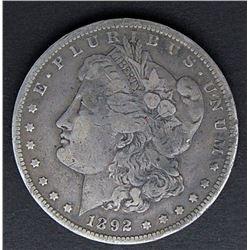 1892-CC MORGAN DOLLAR FINE