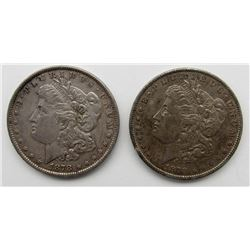 2 - 1878 7F REV 79 MORGAN DOLLARS