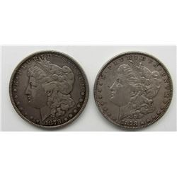 1878 7F REV 78 & 1878-S MORGAN DOLLARS