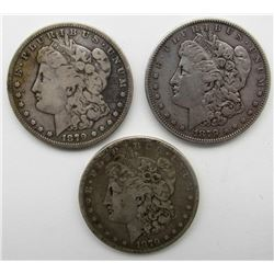 3 - 1879 (S) MORGAN DOLLARS CIRCS