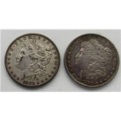 1880-O & 1881-O MORGAN DOLLARS