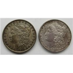 1881 & 1885 MORGAN DOLLARS