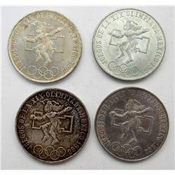 4 - 1968 MEXICO 25 PESOS XF/AU