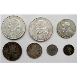 2 - 1953 PANAMA UN BALBOA AU/ UNC; 1932 & 1966