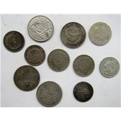 11 - SILVER FOREIGN COINS