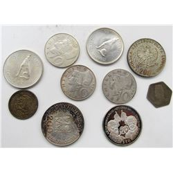 10 - FOREIGN SILVER COINS - NICE MIX