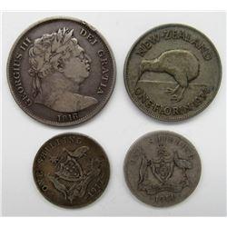 1816 GEORGIUS III DEI GRATIA SILVER COIN PLUS 3 -