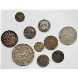 NEDERLAND SILVER COIN LOT; 1963 2 1/2 G; 1923 &