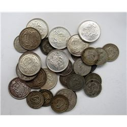 13 - GR. BRIT. ONE SHILLINGS (SOME EARLY DATES,