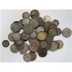 FOREIGN SILVER COIN LOT - EARLY DATE SMALL