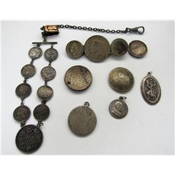 SILVER COIN JEWELRY - SEE PICS