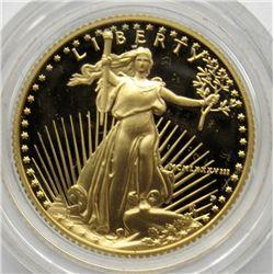 1988 PROOF GOLD EAGLE 1/4 oz IN ORG BOX/COA