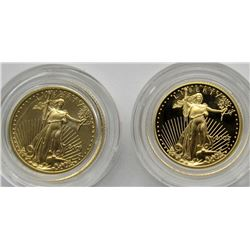 2 - TENTH OUNCE GOLD AMERICAN EAGLES 2001 & 2002