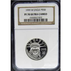 1999 (W) $50 PLATINUM EAGLE NGC PF70 ULTRA CAMEO