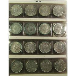 80 - CANADIAN SILVER DOLLARS - AVG CIRC OR BETTER