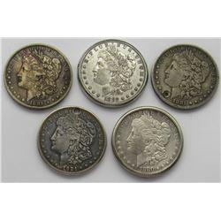 5-Morgan Silver Dollar jewelry pieces