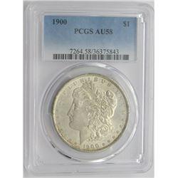 1900-P PCGS AU58 Morgan Silver Dollar $