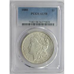 1888-P PCGS AU58 Morgan Silver Dollar $