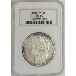 1884 CC MS64 NGC Morgan Silver Dollar $