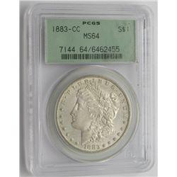 1883 CC MS64 PCGS Morgan Silver Dollar $