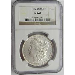 1882 CC MS63 NGC Morgan Silver Dollar $