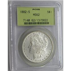 1882-S PCGS MS62 Blast White Morgan Dollar