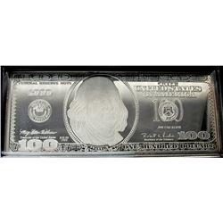 1999 $100 FRANKLIN QUARTER - POUND SILVER