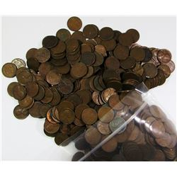 1000 MIXED WHEAT CENT LOT