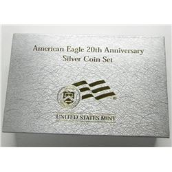 AMERICAN EAGLE 20th ANNIV SILVER COIN SET
