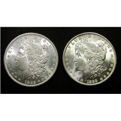 1885-O & 1889 MORGAN DOLLARS AU/BU