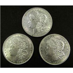 3-1921 MORGAN DOLLARS CIRC OR BETTER