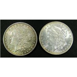 1902 & 1904-O TONED AU MORGAN DOLLARS