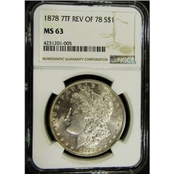 1878 7TF REV OF 78 MORGAN NGC MS 63