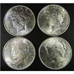 1922, 1923, 1924, 1925 PEACE DOLLARS