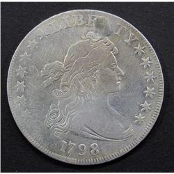 1798 DRAPED BUST DOLLAR HERALDIC REV