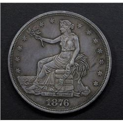 1876 TRADE DOLLAR XF- SCRATCHES REV