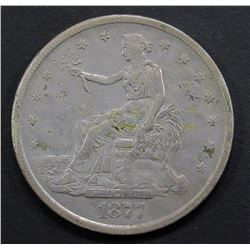 1877-S TRADE DOLLAR FINE WITH DETAILS