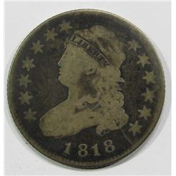 1818 CAPPED BUST QUARTER - VG/FAIR