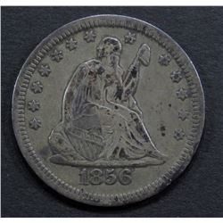 1856 SEATED QUARTER- F/VF