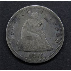 1876 SEATED QUARTER- FINE+