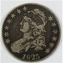 1825 CAPPED BUST HALF DOLLAR FINE