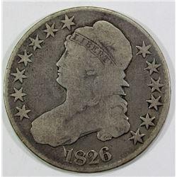 1826 CAPPED BUST HALF DOLLAR G/VG