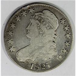 1827 CAPPED BUST HALF DOLLAR FINE