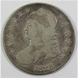 1828 CAPPED BUST HALF DOLLAR VG