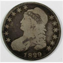 1829 CAPPED BUST HALF DOLLAR VG