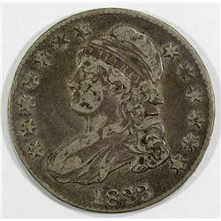 1833 CAPPED BUST HALF DOLLAR FINE